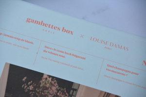 gambettes box decembre 2018 boite 5