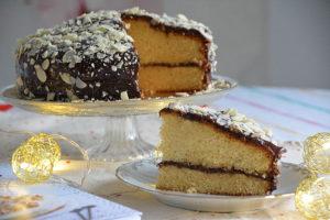 Molly cake au chocolat et aux amandes effilées